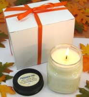 Pumpkin soy candle gift box