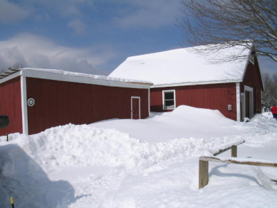 Our barn in snow