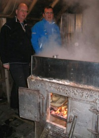 Boiling Maple Syrup